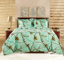 【送料無料】【Realtree APC 3 Piece Comforter Set King Bright Mint by Realtree [並行輸入品]】 b01547kr4c