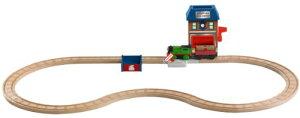 トーマス木製レールシリーズ 電動パーシーと郵便局セット Y4481