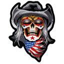 【送料無料】【Hot Leathers COWBOY SKULL High Thread Embroidered Iron-On / Saw-On Rayon PATCH - 4 x 5 Exceptional Quality】 b016zrwyfa