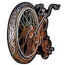 【送料無料】【Hot Leathers BIG WHEEL High Thread Embroidered Iron-On / Saw-On Rayon PATCH - 4 x 5 Exceptional Quality】 b016zrzy34