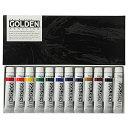 【ターナー色彩 アクリル絵具 ゴールデンアクリリックス 12色セット GL02012C 20ml(6号)】 b00amco45i