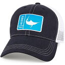 【Costa Del Mar メッシュキャップ オリジナル マカジキのワッペン 紺/白 フリーサイズ】 b01m8plt5d
