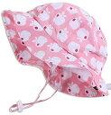 【子供用50+ UPF日焼予防帽子、サイズの調整可能。顎紐付き (L: 3 12年 ピンク・アップル)】 b014wygtke