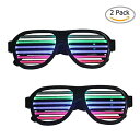 【[Sourcingbay]Sourcingbay 2 Pack Light up LED Glasses Multi Color Sound Music Flashing Light with USB Charger for [並行輸入品]】 b01lzk6jp9