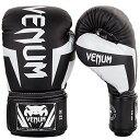 【VENUM [ヴェヌム] ボクシンググローブ Elite エリート(黒/白) (16oz)】 b06x6hn1bv