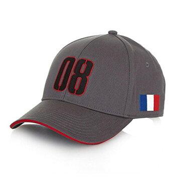 【Haas AmericanチームFormula 1 Motorsportsグレーグロージャンドライバ帽子】 b01fy805qg