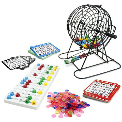 【ロイヤルBingo SuppliesジャンボBingo Game with 100 Bingoカード、500ビンゴチップと9