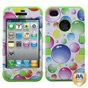 iphone4 - 【iPhone 4のためのJBG IPHONE4AVHPCTUFFIM003NPプレミアムTUFFケース - 1パック - リテールパッケージ - レインボービガー泡/エレクトリックグリーン】 b008eopwa2