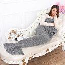 【GotidaマーメイドテールBlanket Crochet andマーメイドブランケット、暖かいとソフトAll Seasonsマーメイド毛布ソファキルトリビングルームブランケット M グレー GO-BLANKET0716-01A3】 b01ik3cyxe