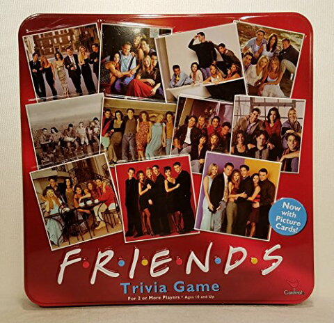 【Friends Trivia Game with Picture Cards; in a Collectible Red Tin】 b001rarons