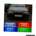 輸入カーパーツ HochiTechコットンマルチカラーRGB LEDエンジェルアイズキット(2000-2003 BMW E46 3シリーズクーペ用リモートコントロール付き)(改装前) HochiTech Cotton Multi-Color RGB LED Angel Eyes Kit with remote control for 2000-2003 BMW E46 3 Series Cou