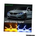 輸入カーパーツ HochiTech白と黄色のウインカーコンセプトM4アイコニックスタイルLEDエンジェルアイBMW M3 F80 M4 F82車のスタイリング HochiTech white and yellow turning signal Concept M4 Iconic Style LED Angel Eye for BMW M3 F80 M4 F82 car styling