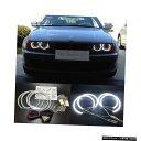 輸入カーパーツ HochiTechスーパーブライトホワイトカラーライトSMD LEDエンジェルアイズ4pcsx131mm BMW E36 E38 E39 E46プロジェクター HochiTech Super bright White color light SMD LED Angel eyes 4pcsx131mm for BMW E36 E38 E39 E46 projector