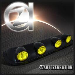 フォグランプ ルーフトップピックアップトラックオフロード運転作業フォグライトバーイエロー+配線キット Roof Top Pickup Truck Off-Road Driving Work Fog Light Bar Yellow+Wiring Kit