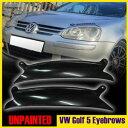 ヘッドライトカバー アイライン PAINTED Volkswagen VW GOLF MK5 03-08ヘッドライトアイズブロウズアイライスカバー? PAINTED Volkswagen VW GOLF MK5 03-08 HEADLIGHT EYEBROWS EYELIDS COVER ▼