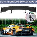 GTウィング ユニバーサルカー57 ブラック145cmカーボンファイバーGTリアレーシングウイングスポイラー ブラケット Universal Car 57 Black 145cm Carbon Fiber GT Rear Racing Wing Spoiler Bracket