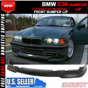 USパーツ 92-98 BMW E36 3シリーズM Tech Msportフロントバンパーリップ未塗装 - PU 92-98 BMW E36 3 Series M Tech Msport Front Bumper Lip Unpainted - PU