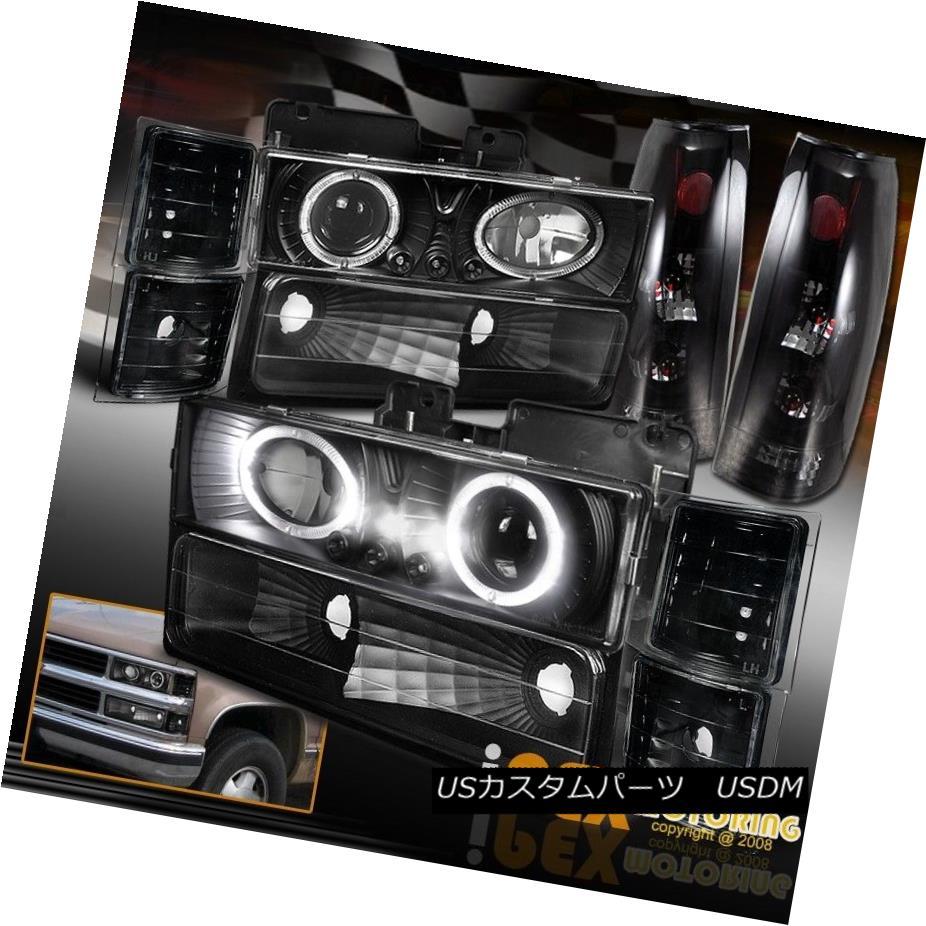 94 98 Chevy Silverado Projector Led Black Truck Tail Lights Headlights Euro Dark Smoke Silveradoled