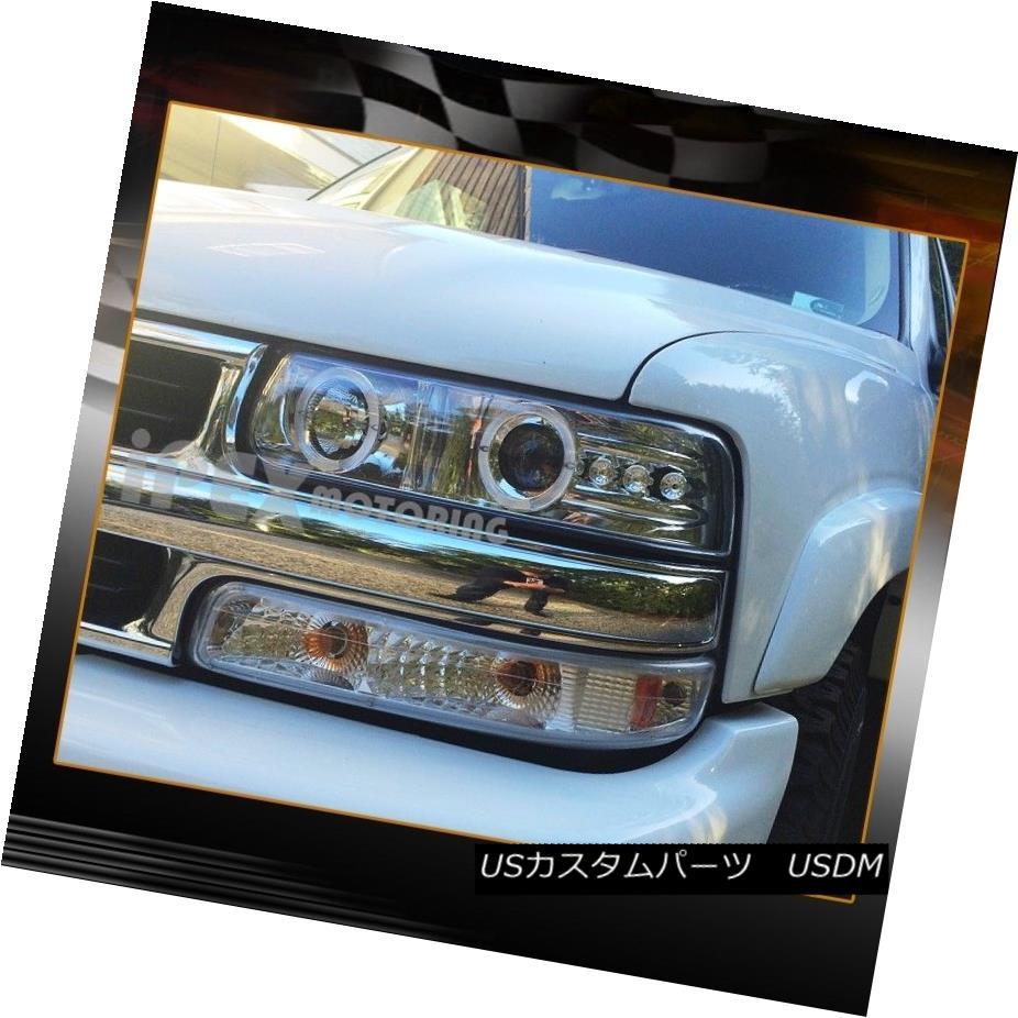 00-06 Suburban Black Smoke Headlights Altezza Tail Lights For 99-02 Silverado
