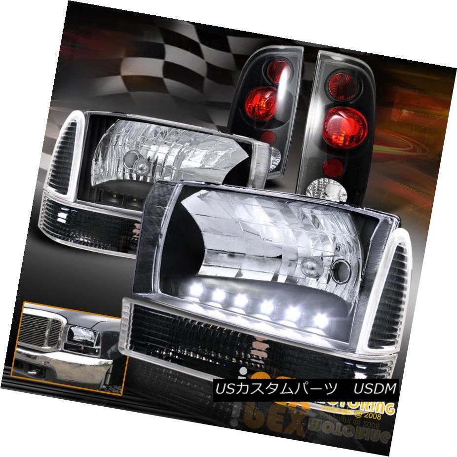 1999 2004 16722215 Ford F250 Super Duty Led Headlight F 250 Light Bulbs Corner Signals Tail Black 2004f250led