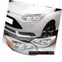 ヘッドライト 2012-2014 Ford Focus Diamond Headlights Chrome Head Lamps Clear US Canadian 2012年から2014年フォードフォーカスダイヤモンドヘッドライトクロームヘッドランプClear US& カナダ人