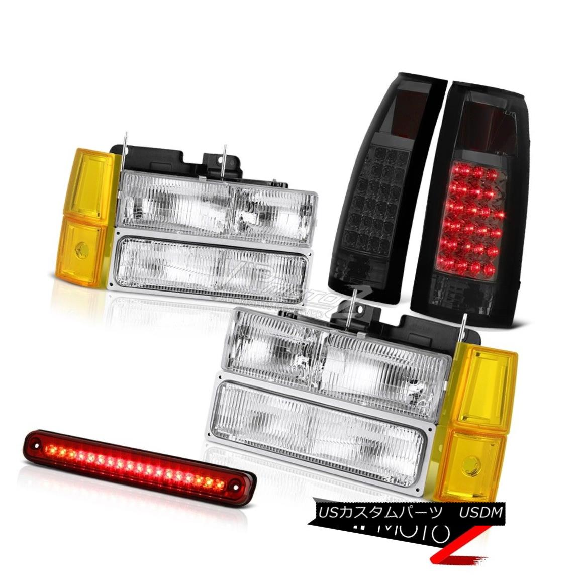 Chevy 02-06 Avalanche Clear Euro Style Rear Tail Light Set Brake Lamp
