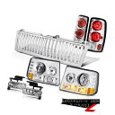 ヘッドライト 00 01 02 03 04 05 Suburban Parking Headlight Brake Lamps Foglights Chrome Grille 00 01 02 03 04 05郊外駐車用ヘッドライトブレーキランプFoglights Chrome Grille