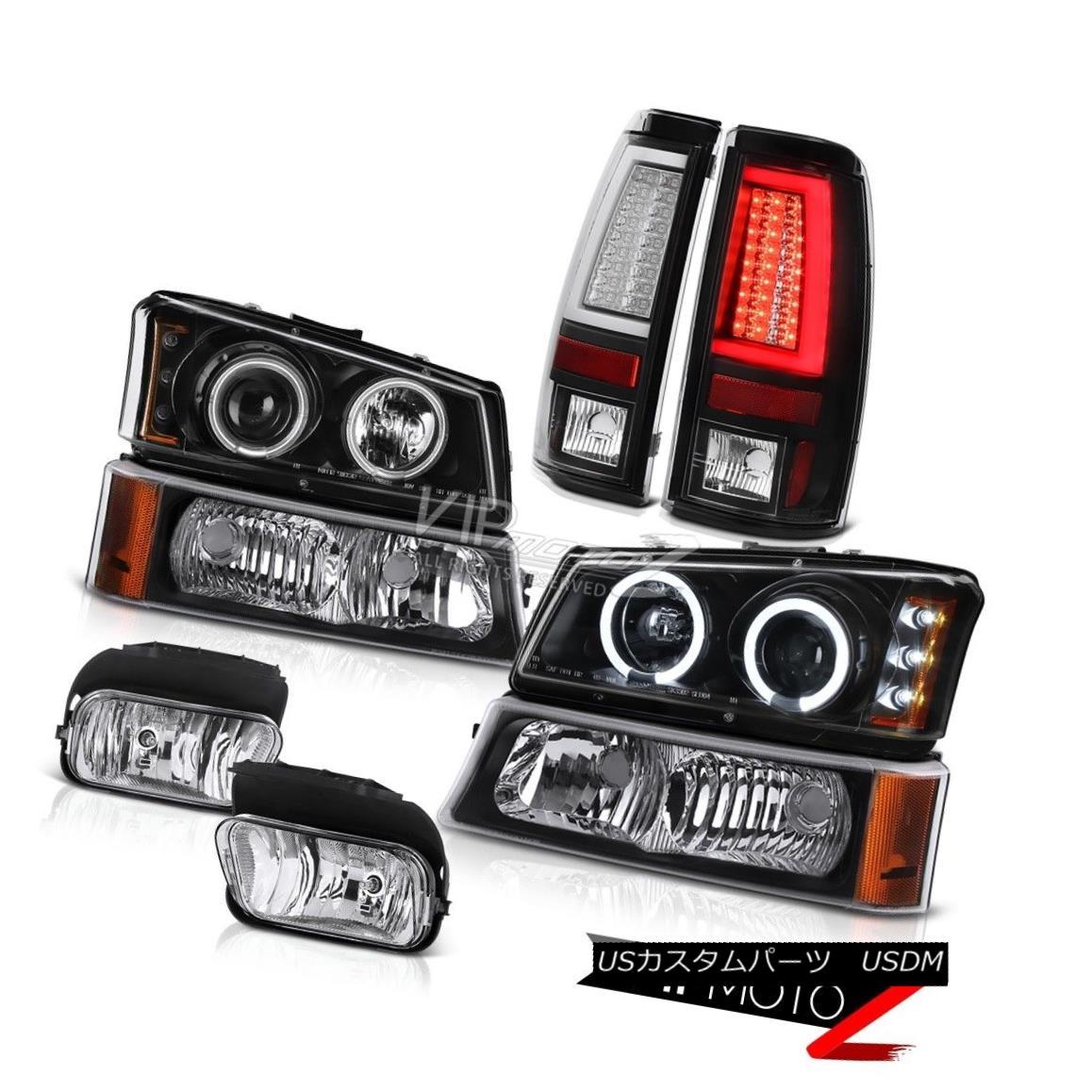 03-06 Silverado Chrome Headlights+Bumper Lamps+LED Tail Lamps+3rd Brake Light