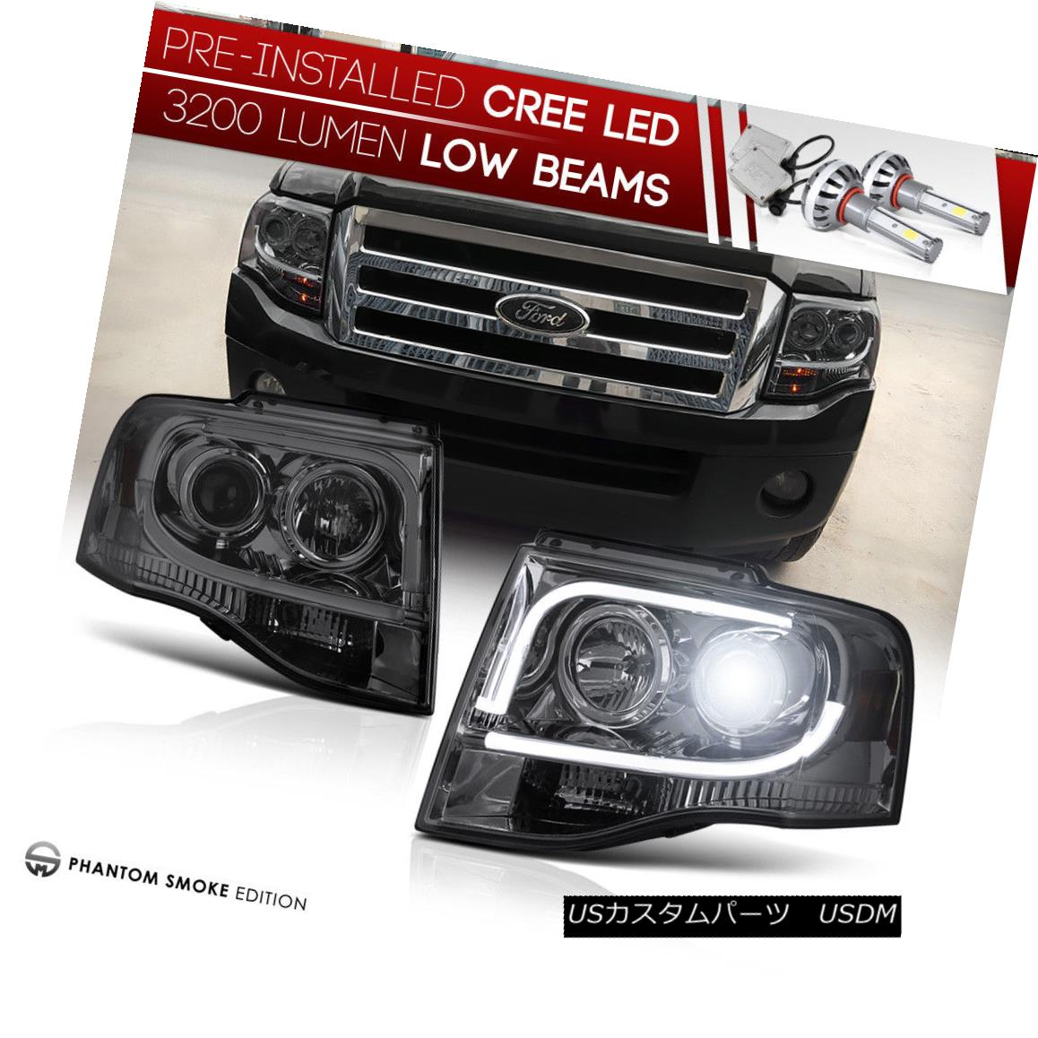 Blk 1997-2003 Ford F150 Headlights+LED Tail Lights Brake Lamps 97-03 Left+Right