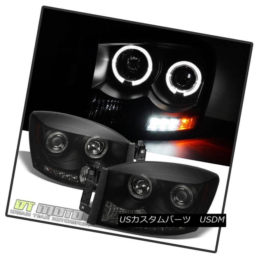 05 06 07 08 09 Ford Mustang Halo Angel Eye Projector Headlights Black RH LH