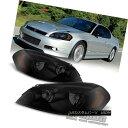 ヘッドライト Black Smoke Headlamps Replacement 2006-2013 Chevy Impala Headlights Left+Right ブラックスモークヘッドランプ交換2006-2013シボレーインパラヘッドライト左+右