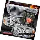 ヘッドライト 04-08 F150 Chrome Halo Headlights Vertical Grille Tint LED Tail 3rd Stop Lamps 04-08 F150クロームハローヘッドライト Ver tical Grille Tint LEDテール第3ストップランプ