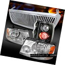ヘッドライト 04-08 Ford F150 Chrome Headlights Vertical Grille Black LED Tail Lamps 04-08 Ford F150クロームヘッドライト Ver tical Grille Black LEDテールランプ