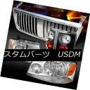 ヘッドライト 04-08 Ford F150 Chrome Headlights Vertical Hood Grille Black Tail Lamps 04-08 Ford F150クロームヘッドライト Ver ticalフードグリル ブラックテールランプ