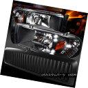 ヘッドライト Dodge 94-01 Ram 1500 Black LED DRL Headlights Vertical Hood Grille ドッジ94-01ラム1500ブラックLED DRLヘッドライト Ver tical Hood Grille