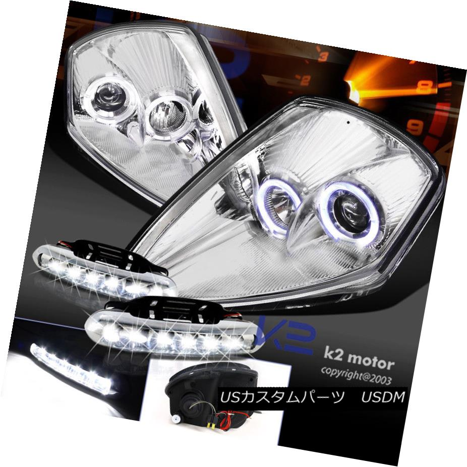 94-01 DODGE RAM DRL LED CHROME CRYSTAL HEAD LIGHTS LAMPS W//BUMPER FOG LEFT+RIGHT