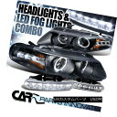 �إåɥ饤�� 97-00 Avenger Sebring Coupe Black Halo LED Projector Headlights+LED Fog DRL Lamp 97-00���٥㡼���֥�����ڥ֥�å��ϥ�LED�ץ����������إåɥ饤��+ LED�ե���DRL����