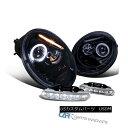 ヘッドライト Glossy Black 98-05 Fit VW Beetle Halo Projector Headlights+Clear 6-LED Fog Lamps Glossy Black 98-05 Fit VW Beetle..