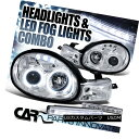 ヘッドライト Dodge Plymouth 00-02 Neon Crystal Chrome Halo Projector Headlig...