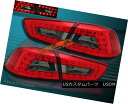 テールライト 08-2011 MITSUBISHI LANCER / EVOLUTION RED SMOKE LED TAIL LIGHTS 4PCS NEW 08-2011三菱ランサー/進化型赤煙テールライト4PCS NEW