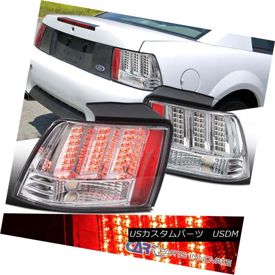 For 99-04 Ford Mustang Chrome Crystal Headlights Lamps Assembly Left//Right Set