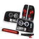 テールライト CCFL Halo Headlights High Brake LED Black Tail Light 1999-2004 ...