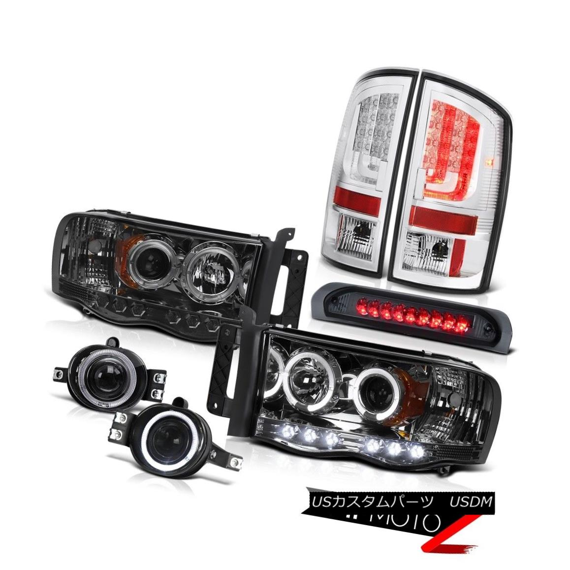 03-06 Chevy Silverado 2500Hd Black Headlights Roof Cab Lamp Red Tail Brake Lamps