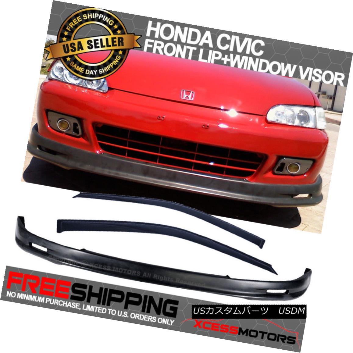 Fits 92-95 Honda Civic EG Mugen PP Front Rear Bumper Lip Spoiler
