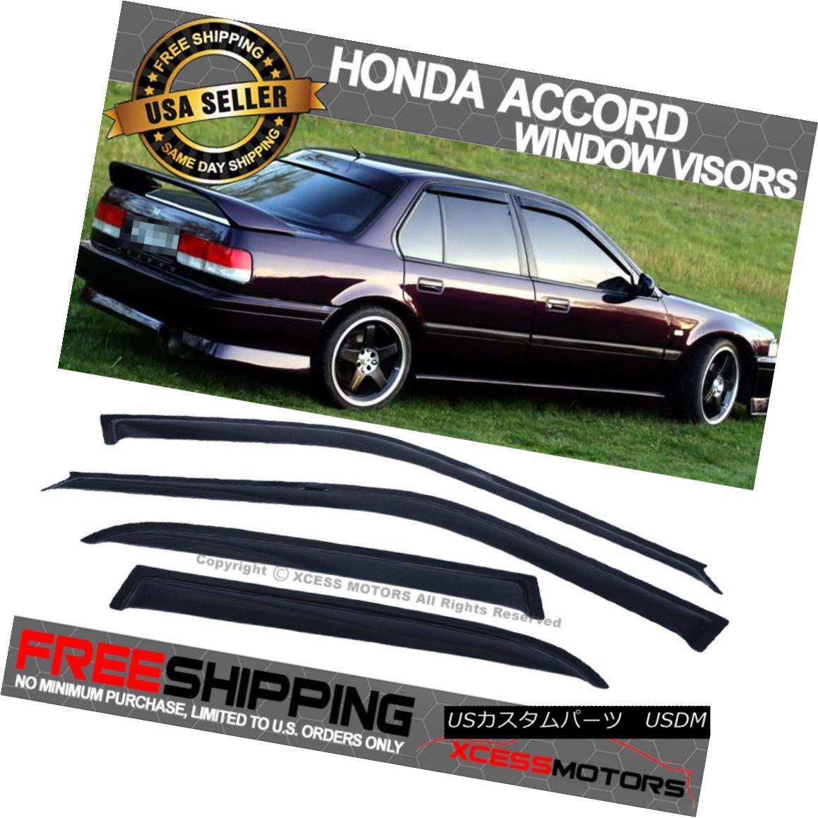 Vent Shade Window Deflector Rain//Wind Visor For Honda Accord 4 Door Sedan 03-07