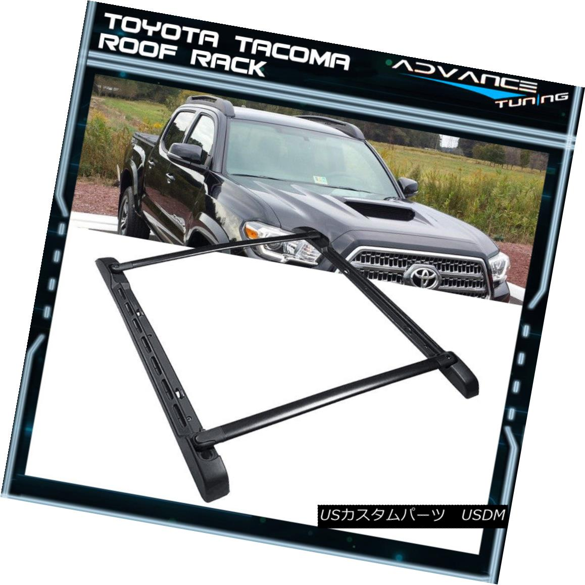 FIT 05-18 Toyota Tacoma Double Cab Roof Top Rack Aluminum Cross Bar Side Rails07