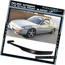エアロパーツ For: 92 93 Acura Integra T-R Style PU Poly Urethane Front Bumper Lip Spoiler のため:92 93 AcuraインテグラT-RスタイルPUポリウレタンフロントバンパーリップスポイラー