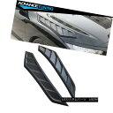 エアロパーツ Fits 16-18 Honda Civic 10th Gen V2 Style Hood Vents 2 Pieces Black ABS ホンダシビック第10世代V2スタイルフード通気孔16-18フィートブラックピース
