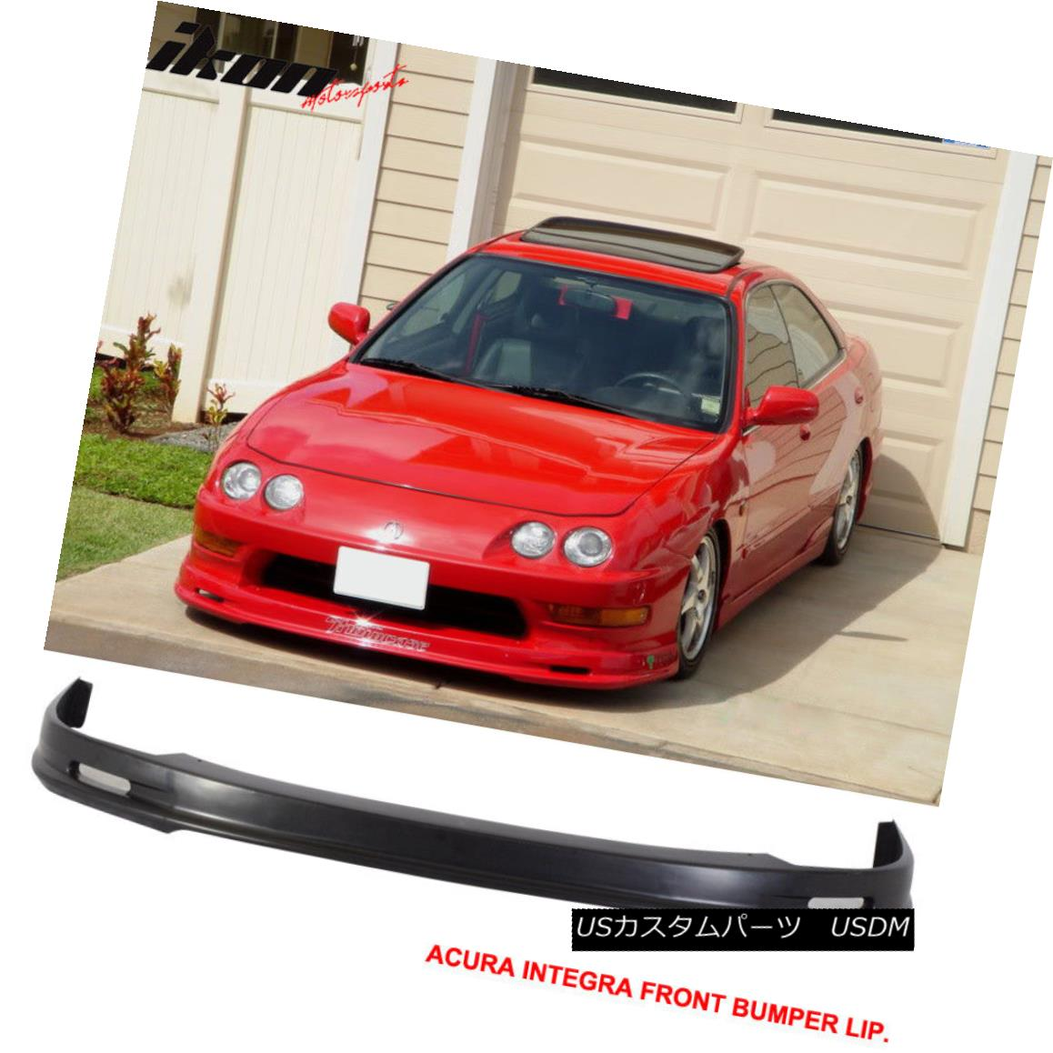 Fits 13-15 Honda Civic IKON V3 Style Front Bumper Lip Poly Urethane