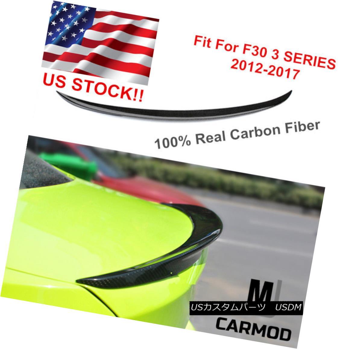 Carbon Fiber Trunk Lip Wing Spoiler Fit For F30 3-Series 335i 330 /& F80 M3 Sedan